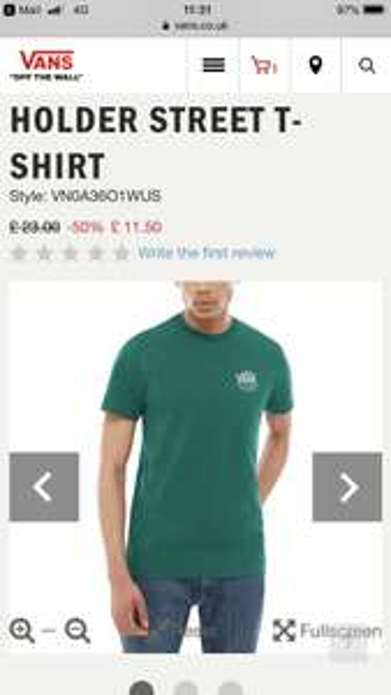 382d46b1db4fbf Vans Holder Street T-Shirt (Evergreen) £11.50 delivered   Vans (All