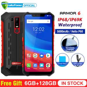 """Ulefone Armor 6 IP69K Waterproof Android 8.1 6.2"""" Octa Core 6GB+128GB NFC Face ID Smartphone - £283.03 @ aliexpress - Ulefone Official Store"""