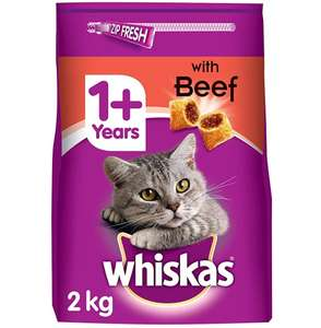 Whiskas 1+ Dry Cat Food for Adult cats Beef, 4 bags (4 x 2 kg) £6.03 @ Amazon Prime Pantry (+£3.99 delivery)