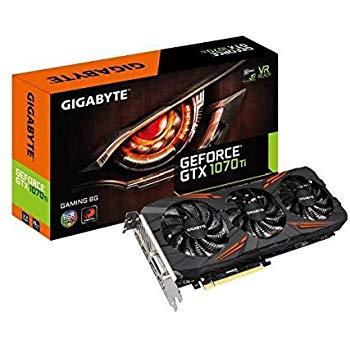 GIGABYTE NVIDIA GeForce GTX 1070Ti 8GB GDDR5 - £358.80 @ Amazon