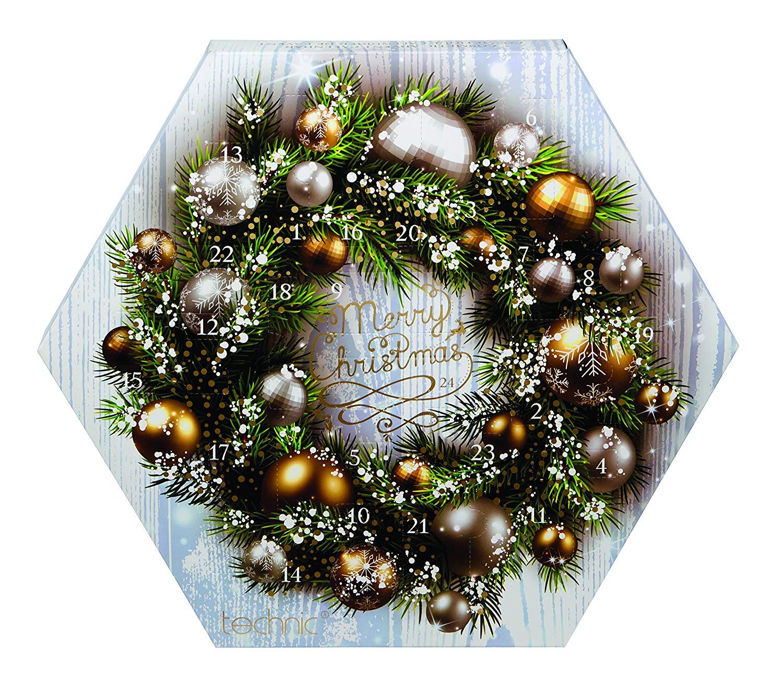 Technic Hexagon Bauble Wreath Cosmetic Advent Calendar Make-up Sets @ Amazon Add On £4