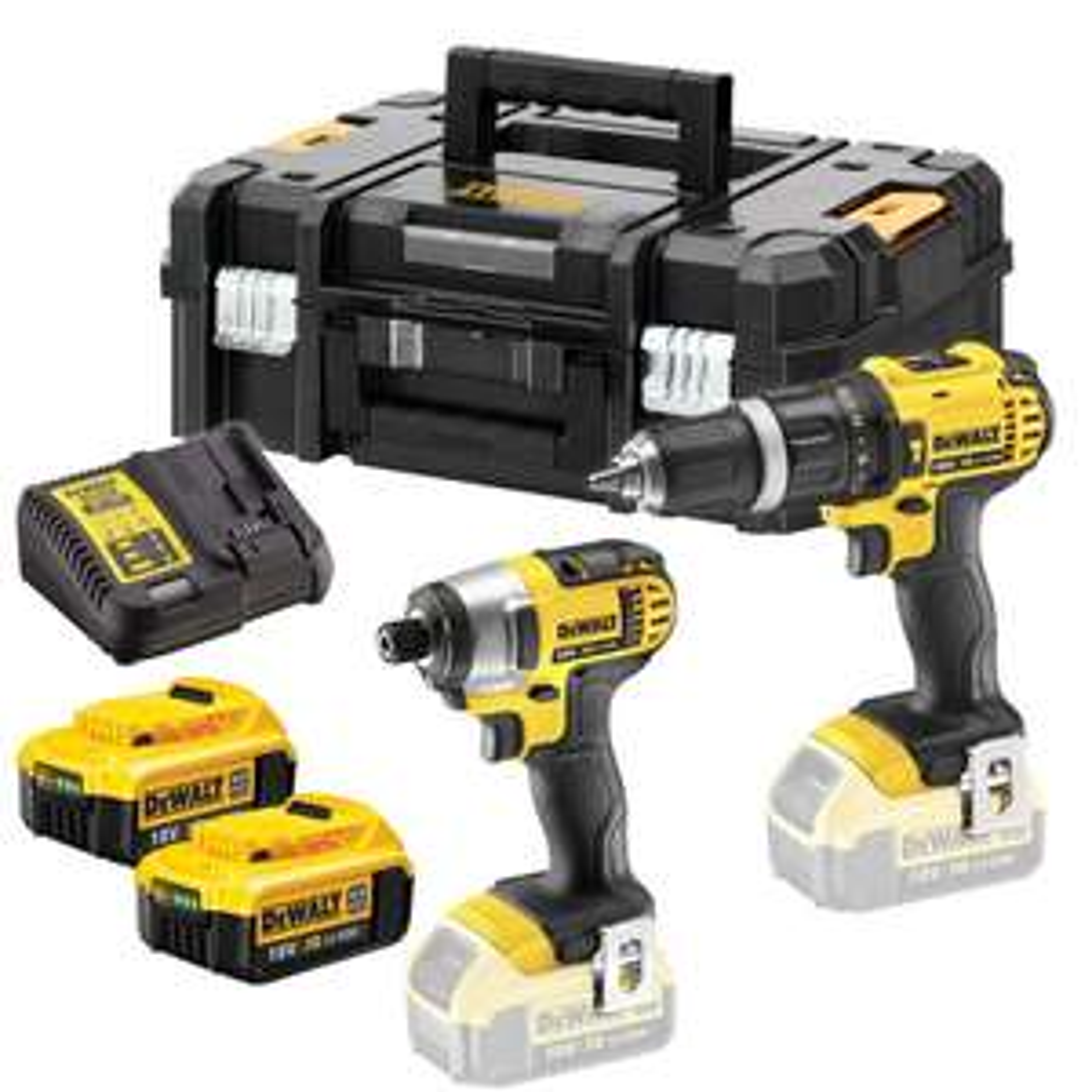 Dewalt 18v Combi drill/impact driver and 2 x 4.0Ah £208 @ Powertoolworld