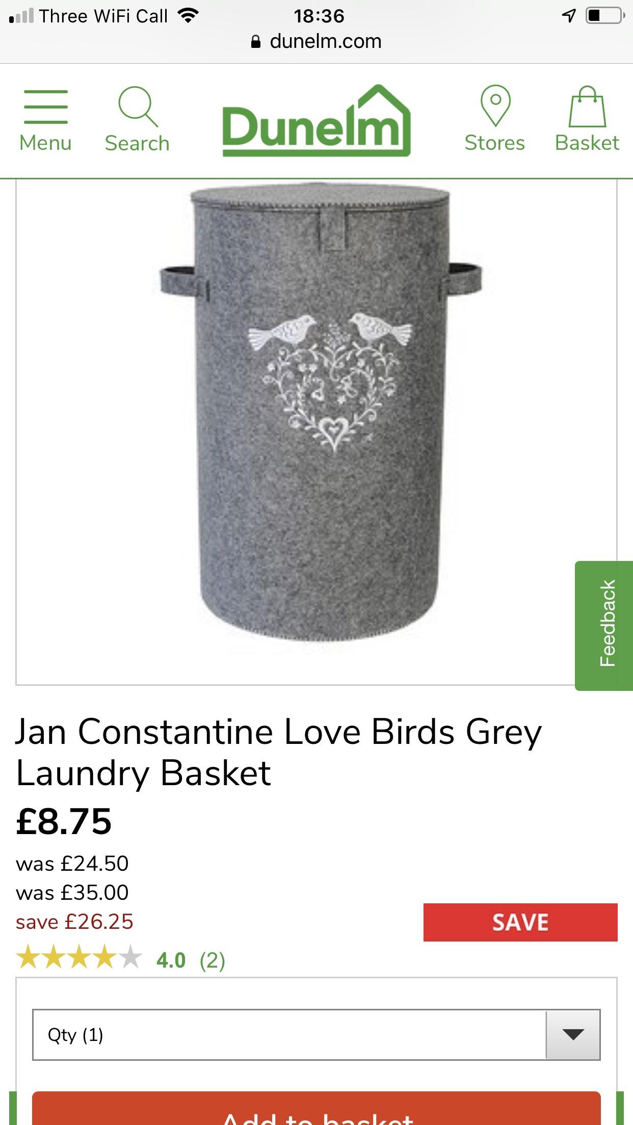 dunelm online jan constantine love birds grey laundry. Black Bedroom Furniture Sets. Home Design Ideas