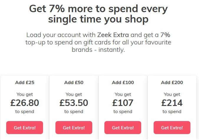 Get 7% bonus when you top up your account @ ZeekShop