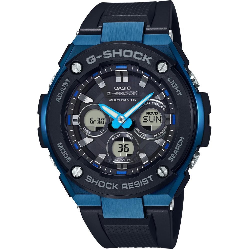 Casio G-Shock Steel Men's Blue Ion Plated Strap Radio Controlled, Solar Watch, £130.50 at Ernest Jones