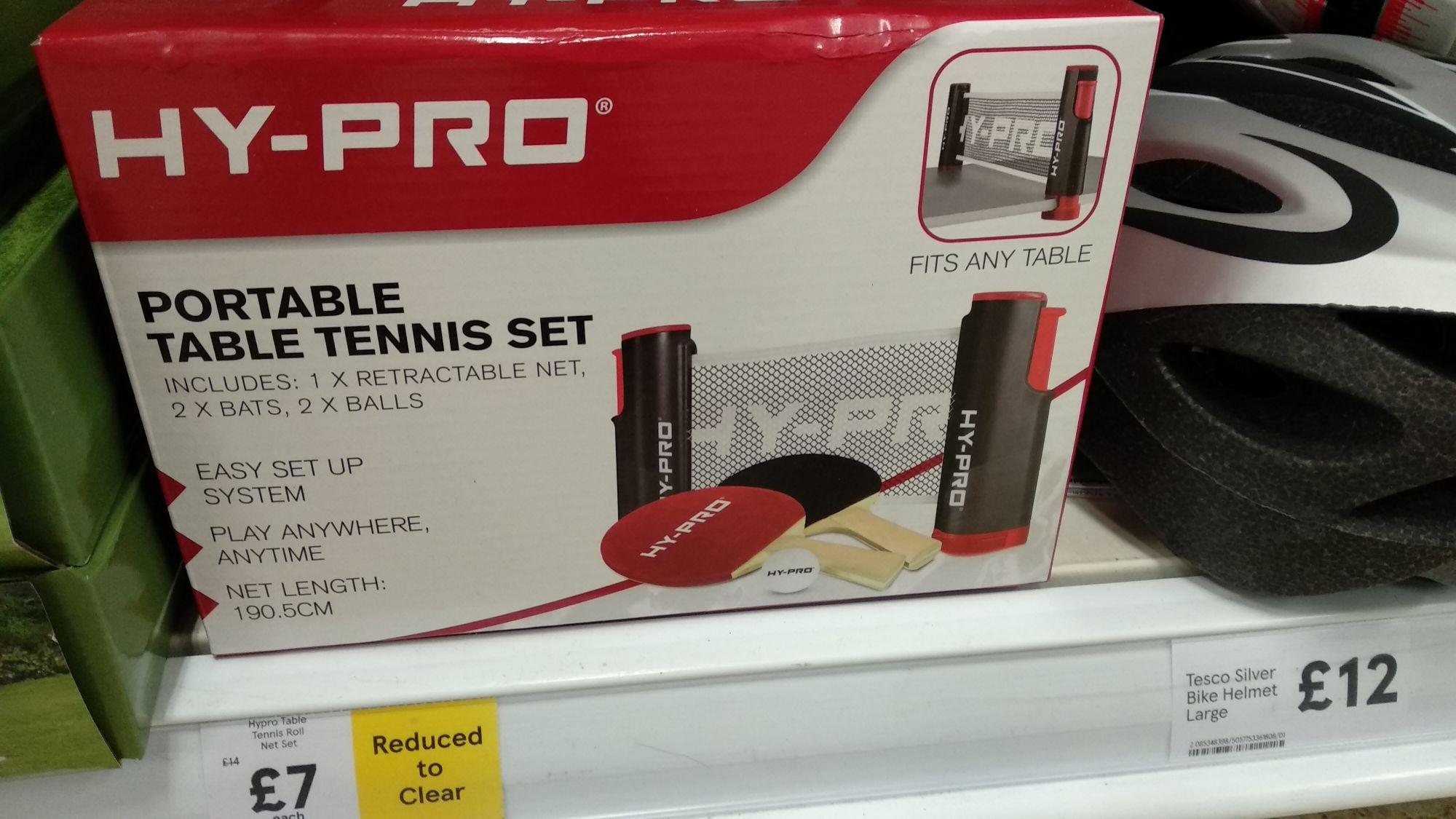 Portable Table Tennis set - £7 instore (Tesco)