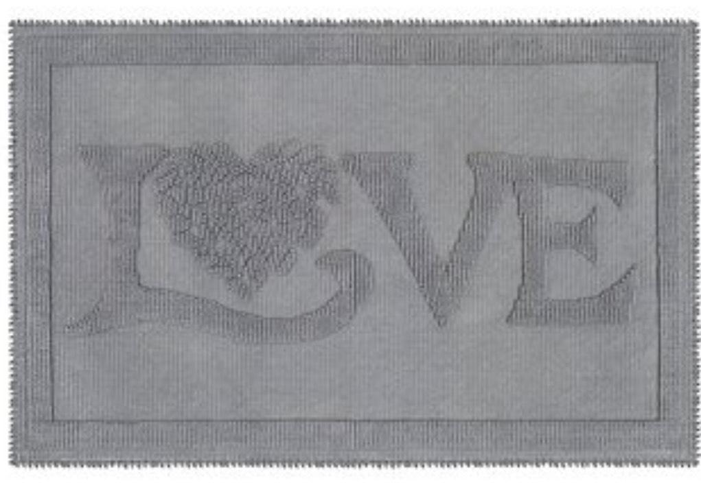 Jan Constantine Classic Love Grey Bath Mat £3.75 was £15 - free c+c @ Dunelm