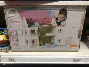 Asda George Home wooden large dolls house was £35 now £17.51