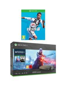 Xbox One X Gold Rush Edition (Battlefield V Deluxe, Battlefield 1943, FIFA 19, 1 month EA Access) - £409.99 - Very