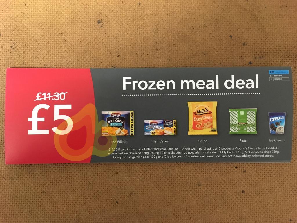 Coop frozen meal deal £5 - starts 23/1/19