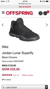 Nike Jordan superfly £55 Offspring - free c&c / £3.50 del
