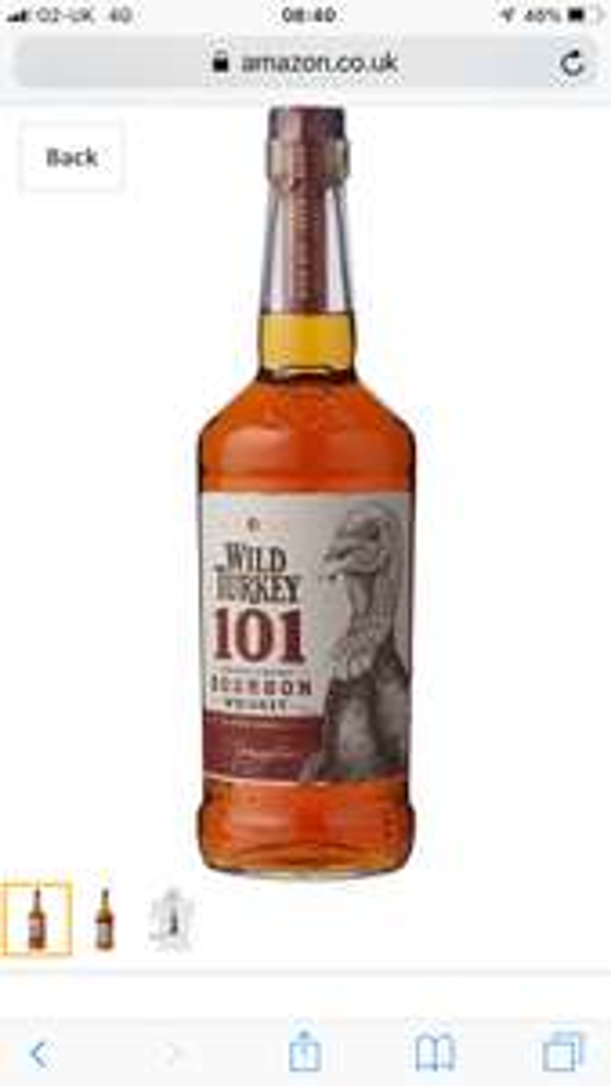 Wild Turkey 101 Bourbon Whiskey, 70 cl  £24.50 Amazon