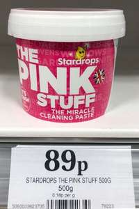 The Pink Stuff Stardrops 500g (Mrs Hinch Miracle Paste) 89p at Home Bargains