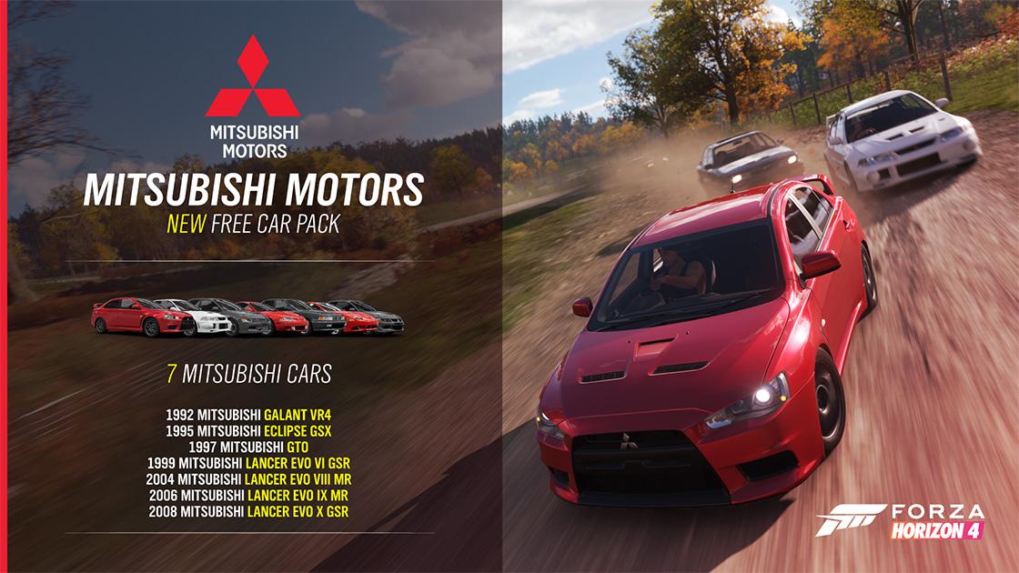 Forza Horizon 4 - Mitsubishi Returns to Forza Horizon 4; 7 Free Cars with latest update