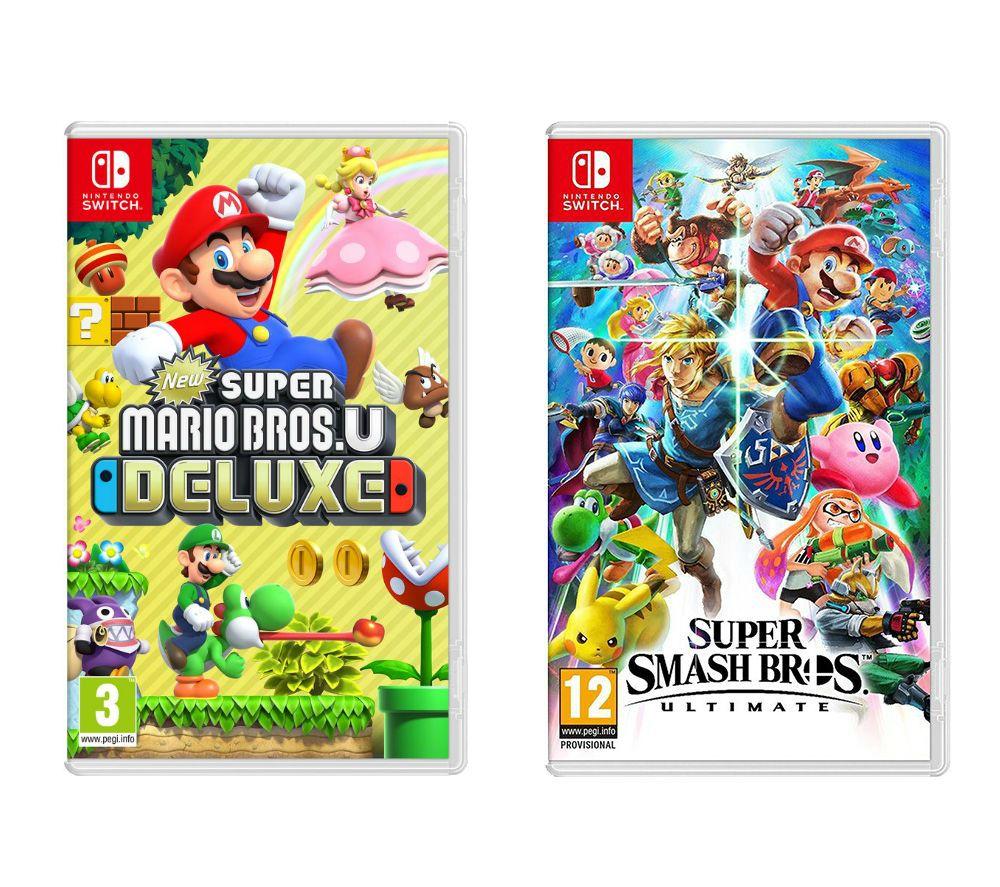 NINTENDO Super Smash Bros. Ultimate & New Super Mario Bros. U Deluxe Bundle £79.99 @ Currys
