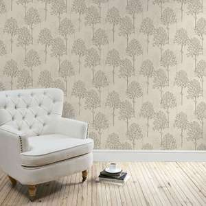 Natural Spriggy Trees Wallpaper @ Dunelm Was £15, Now £3.75. Others also available