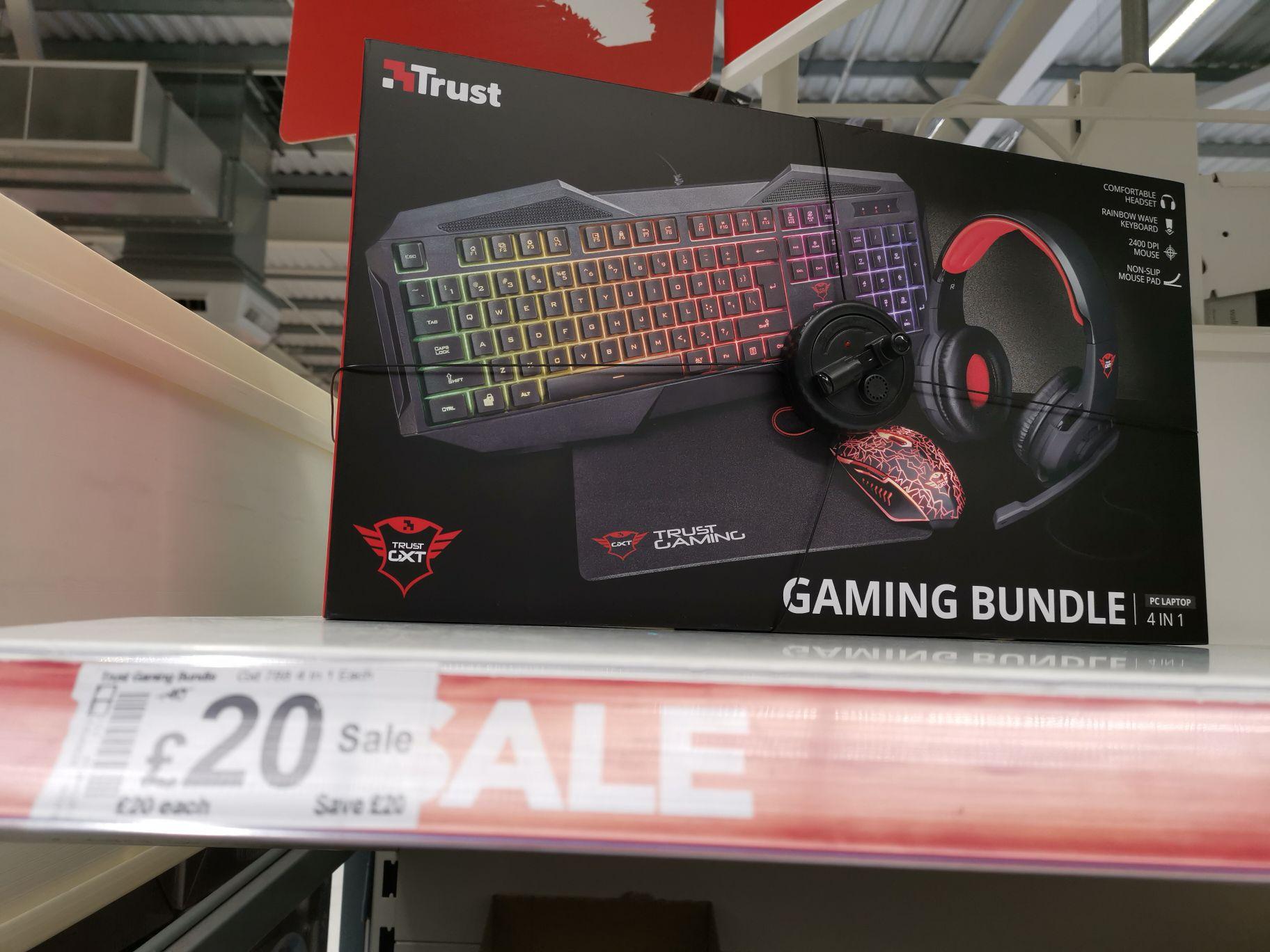 Trust 4 in 1 Gaming Bundle Asda In-store - £20