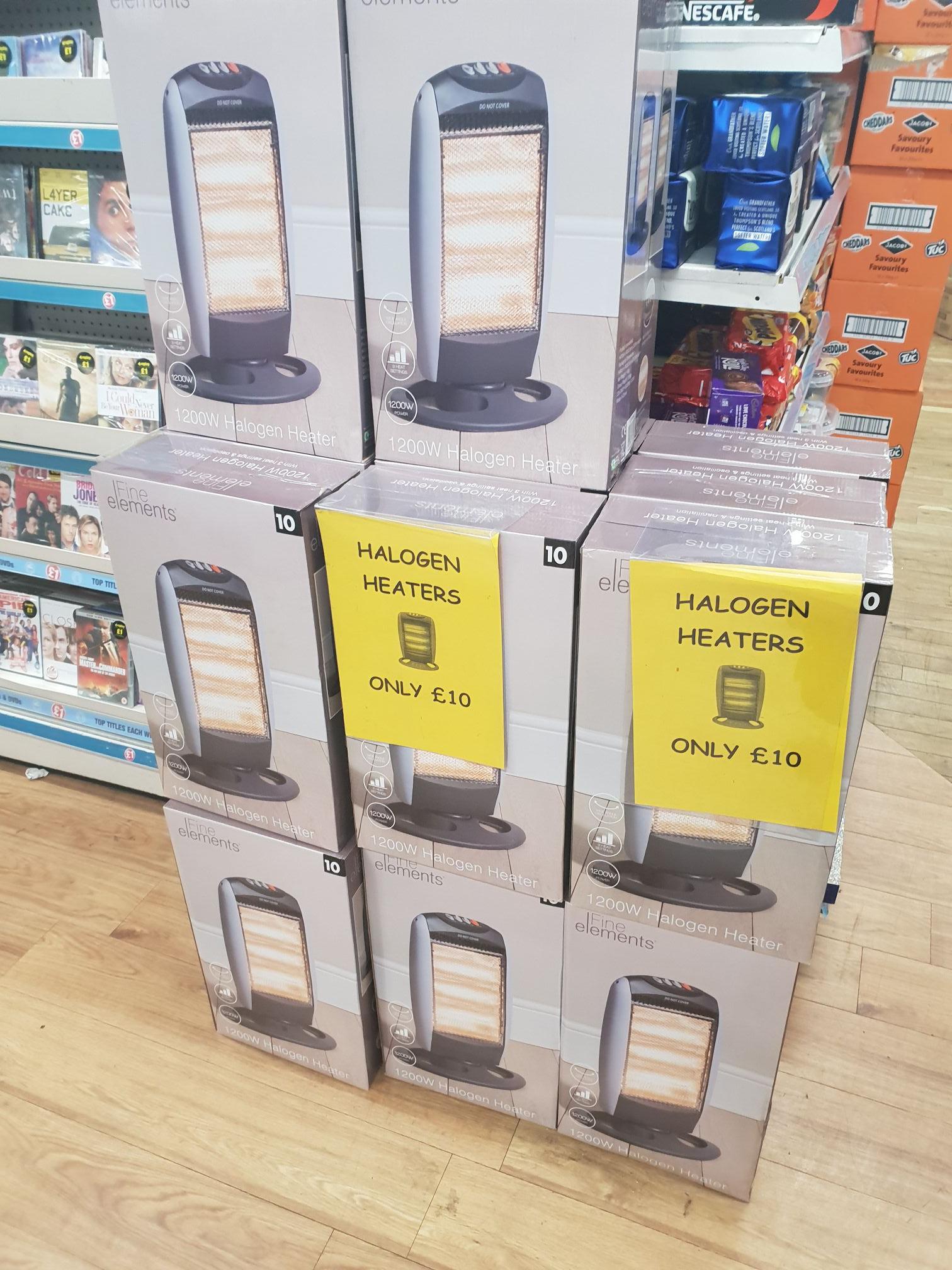 Halogen heater - £10 instore @ Poundland (Glasgow)