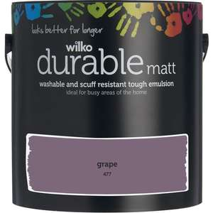 Wilko Durable Washable Matt Emulsion (and others e.g. Dulux) 2.5L was £15 now £10 @ Wilko