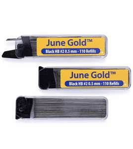 June Gold 330 Lead Refills, 0.5 mm or 0.7 mm HB - Amazon Add-on Item £2.97