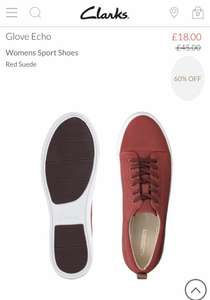Clarks Glove Echo, women's trainers, red suede £18 at Clarks - free c&c