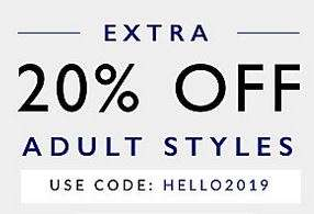 Additional 20% off adult styles - already heavily reduced prices with code @ Clarks Outlet