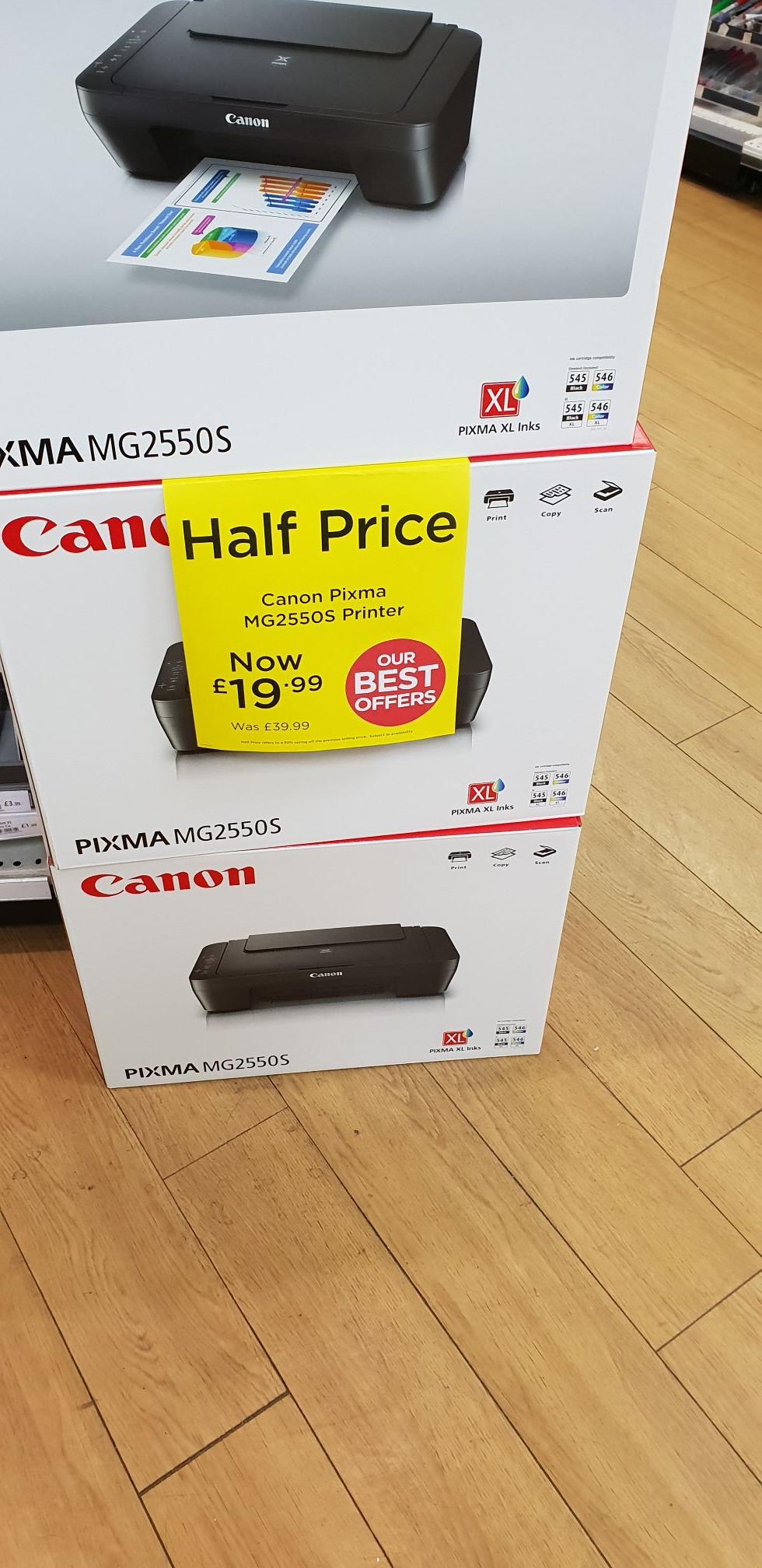 Canon Pixma MG2550S Printer £19.99  @ WHSmiths instore