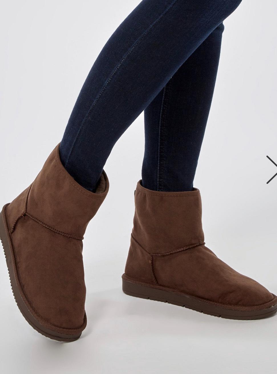 Chocolate 'Minty' Fur Boots £7.20(w/code)  free c+c @ Dorothy Perkins