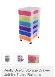 Really useful rainbow tower storage Drawers 6x7L £12 @ morrisons