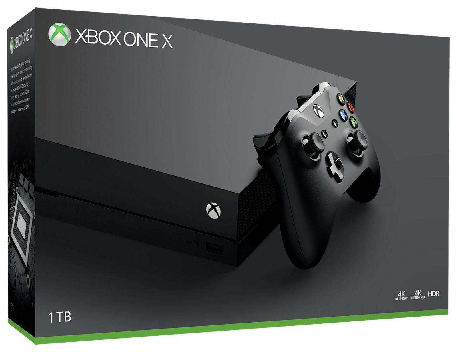 Refurbished Microsoft Xbox One X 1TB 4K Gaming Console - Black, £303.99 at Argos/ebay