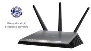 NETGEAR D7000 Nighthawk AC1900 Dual Band 600 + 1300 Mbps Wireless (Wi-Fi) VDSL/ADSL Modem Router for Phone Line Connections