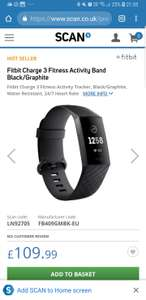 Fitbit Charge 3 - £109.99 or £115.48 at SCAN - possible price match @ John Lewis/Currys