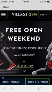Village Hotel gym open weekend- FREE gym/pool/classes + FREE 10 mins massage +40% off food/ 2 for 1 Sunday roast