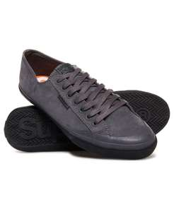 Charcoal low pro luxe sneakers size; 6 (dove grey size 6) - £15 @ Superdry.com