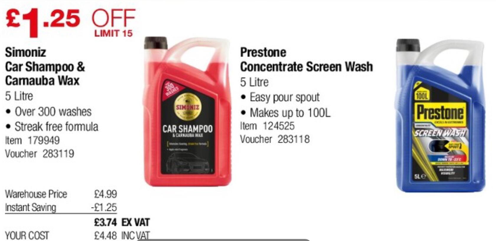 Simoniz Shampoo and Carnauba Wax 5L £4.49 @ Costco