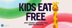 Kids eat FREE with every Main Meal Purchased on Saturdays (Free Kids Meal = Main, Drink & Dessert) at Giraffe