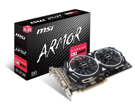 MSI AMD Radeon RX 580 8GB ARMOR 8G OC £209.99 @ Box
