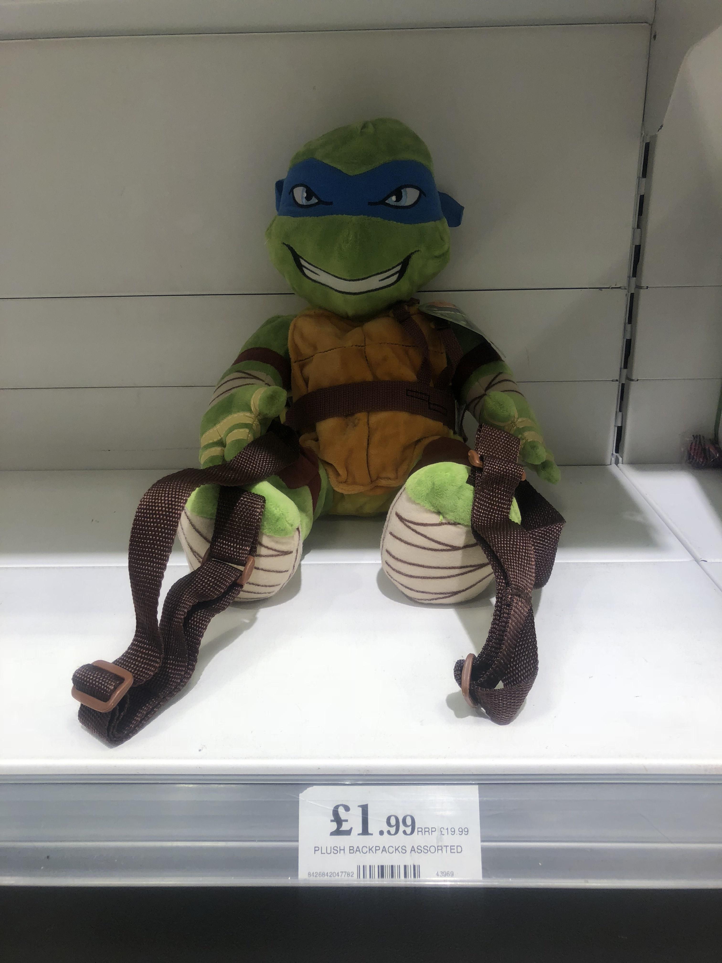 Teenage Mutant Ninja Turtles Plush Backpack only £1.99 Home Bargains