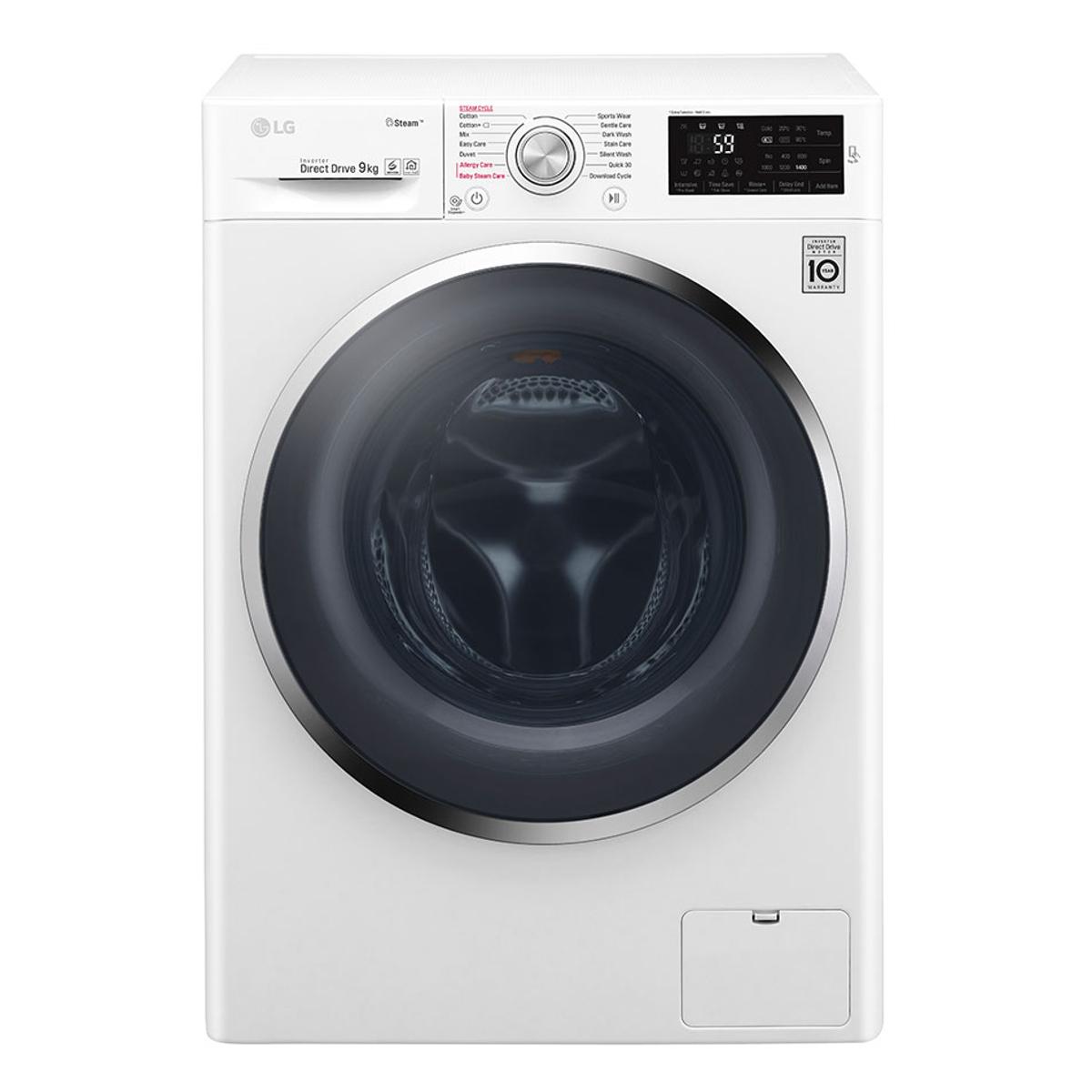 LG F4J6VY2W 9kg Washing Machine White + 5 year Guarantee £359.10 w/ code @ Hughes
