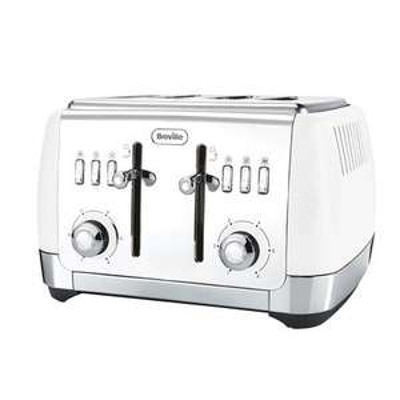 Breville Strata 4 Slice Toaster, white - £33.68 delivered with code @ Breville