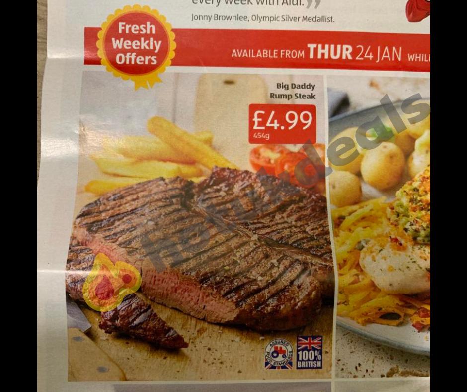 Big Daddy Rump Steak @ ALDI - £4.99 from 24th January