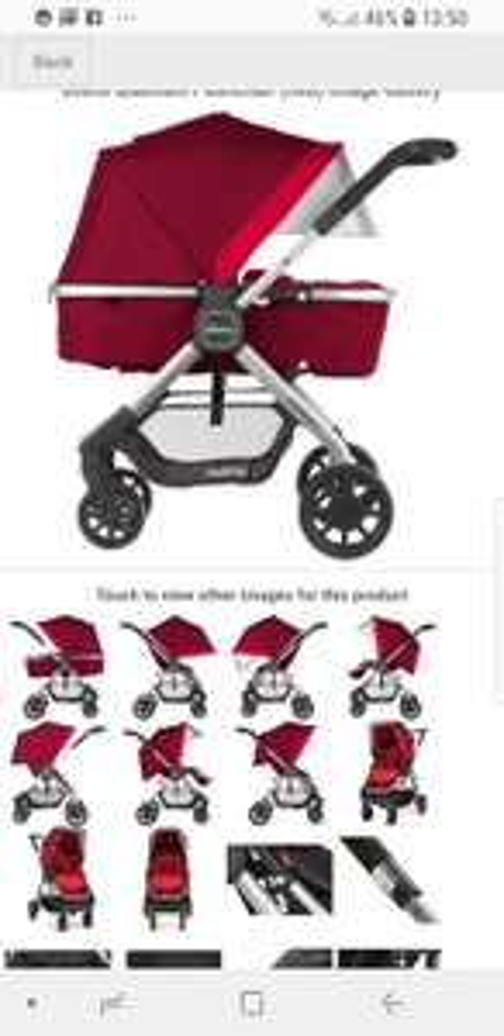 DIONO QUANTUM PUSHCHAIR Red & Black in description £159.00 Free Delivery @ PreciousLittleOne