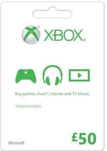 Xbox Credit £50 for £45.99 at CD Keys (£44.61 with facebook code).  Other values discounted as well