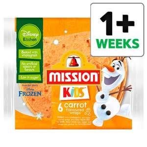 Mission Kids Disney 6 flavoured wraps Free from Tesco (£1.30) with CheckoutSmart