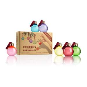 Pickering's Hand-Picked Gin Baubles Gift Set - 6 x 5cl @ Amazon Exclusively For Prime Members £15