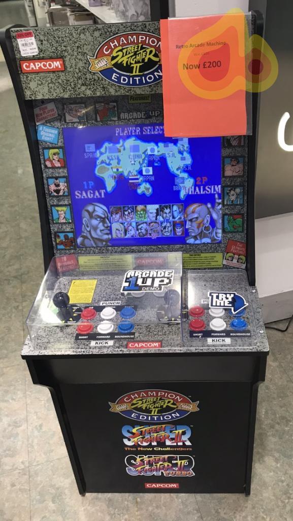 Capcom street fighter arcade half price £200 @ Debenhams Instore