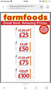 Coupons for FarmFoods