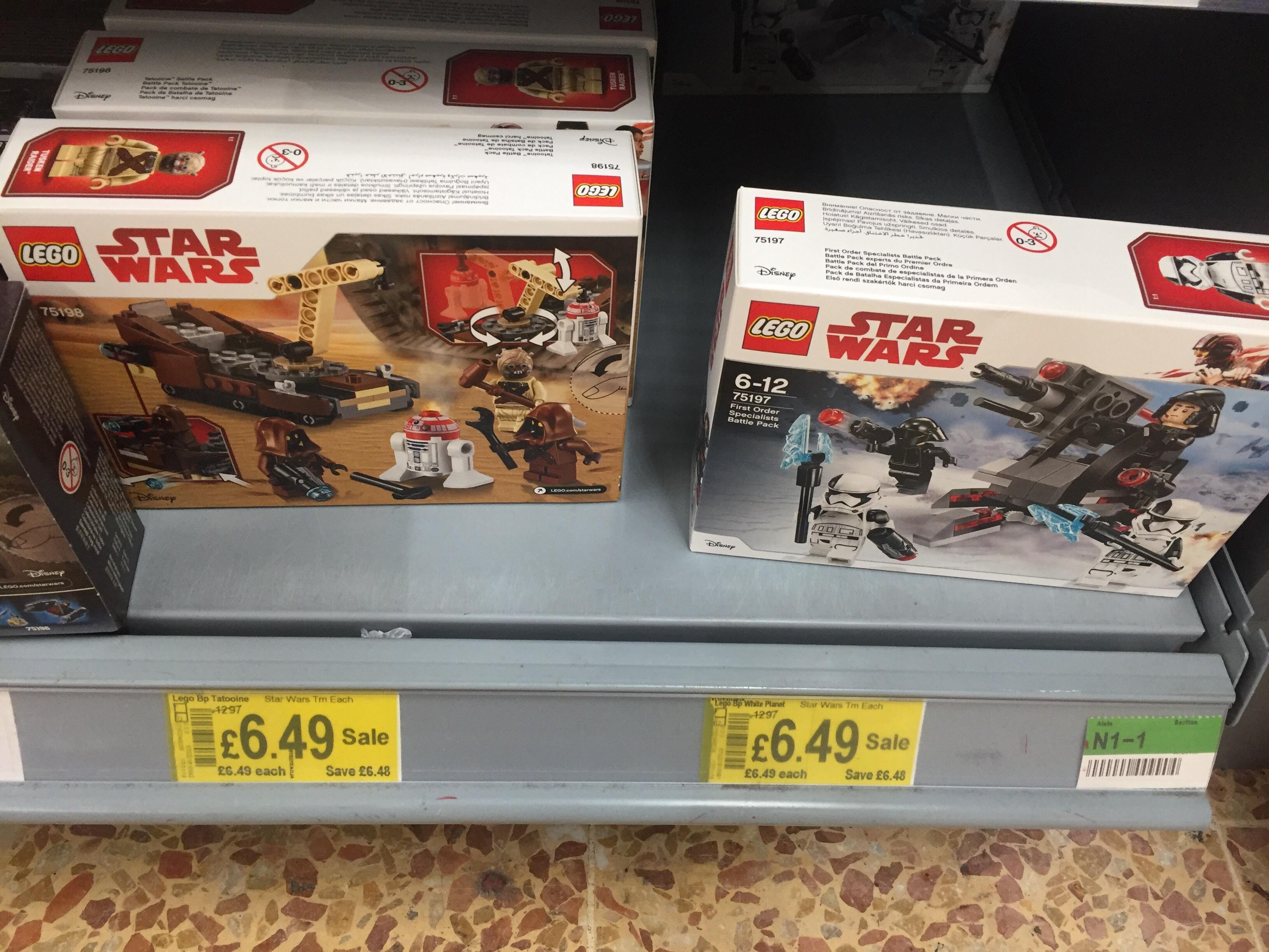 Star Wars LEGO 75197 & 75198 £6.49 @ Asda