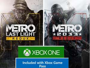 Metro 2033 Redux/Metro: Last Light Redux for £4 or Free with Game Pass @ MSStore