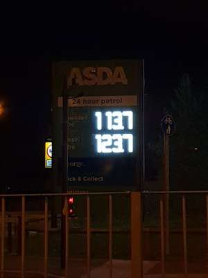 Asda Fuel Price | £113.7 Per Litre | Woking Sheerwater; Surrey